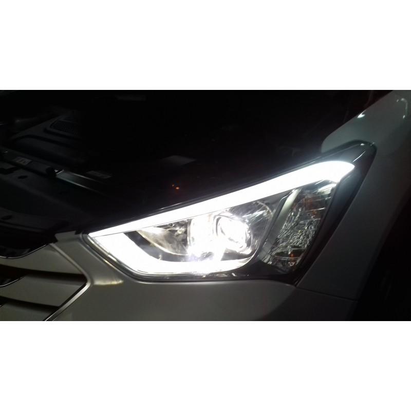 Замена штатных линз на Hyundai Santa FE